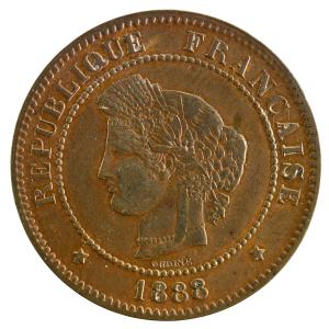 Third Republic 5 centimes Ceres 1888 Paris