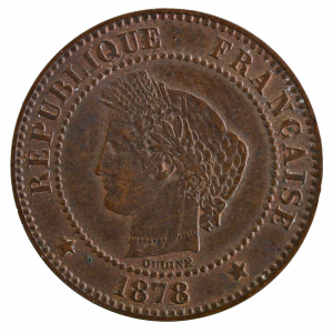 Third Republic 2 centimes Ceres 1878 Paris