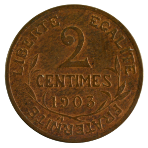 III Republic 2 centimes 1903