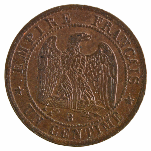 Napoleon III 1 centime 1853 Rouen