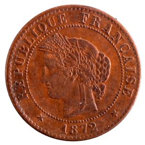 III Republique 1 centime 1872 Bordeaux