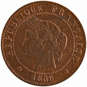 III République 1 centime 1886 Paris