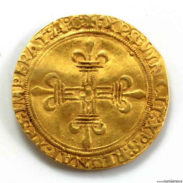 Louis XII Ecu d'or au soleil frappé à Gênes