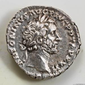 Antonin le Pieux denier revers COS IIII