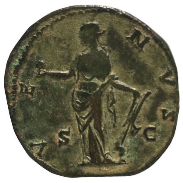 Faustine jeune sesterce frappé à Rome