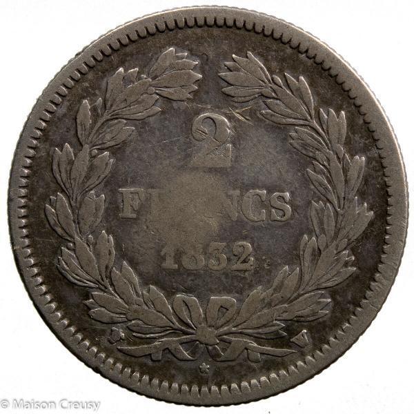Louis Philippe AR 2 francs 1832 Lille