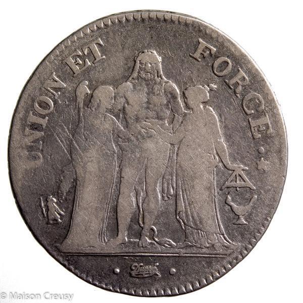 Directoire 5 francs union et force an 6 Bordeaux