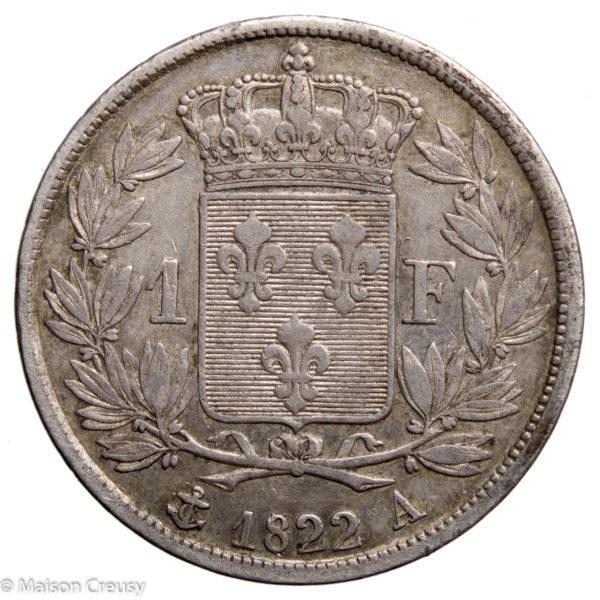 LouixXVIII-franc1822A