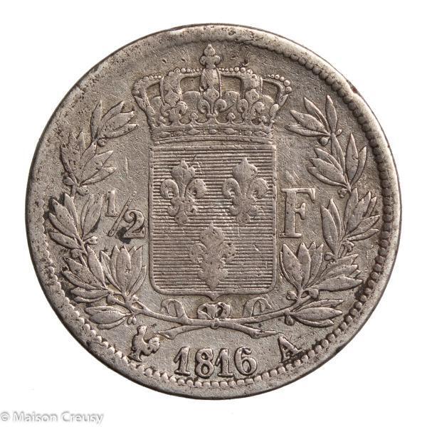 LouisXVIII-DemiFranc1816A