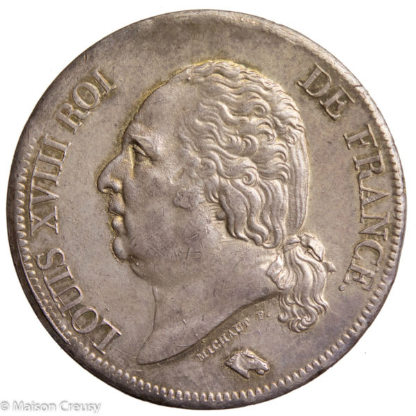 LouisXVIII-5francs1818B