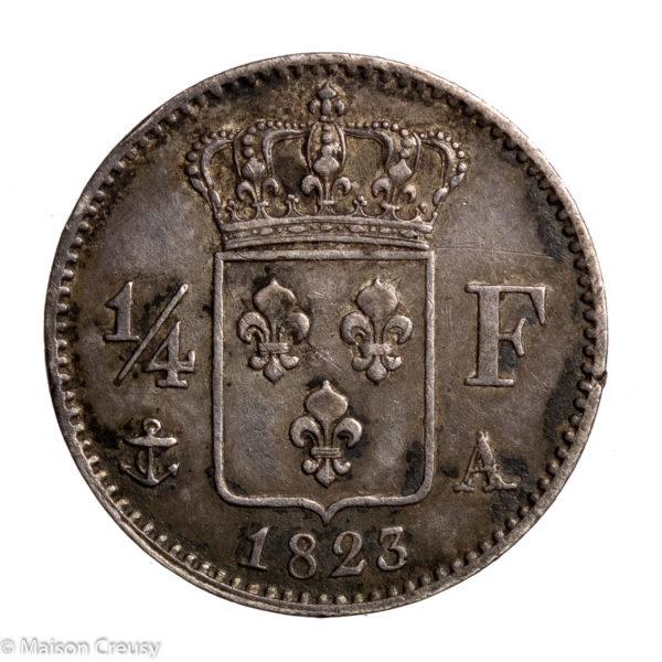 LouisXVIII-quartfranc1823A