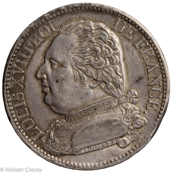 LouisXVIII-5francs1814I