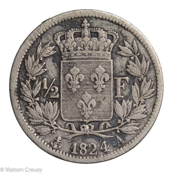 LouisXVIII-DemiFranc1824A