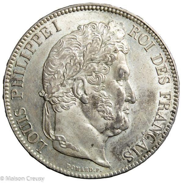 Louis Philippe 5 francs 1838 Paris