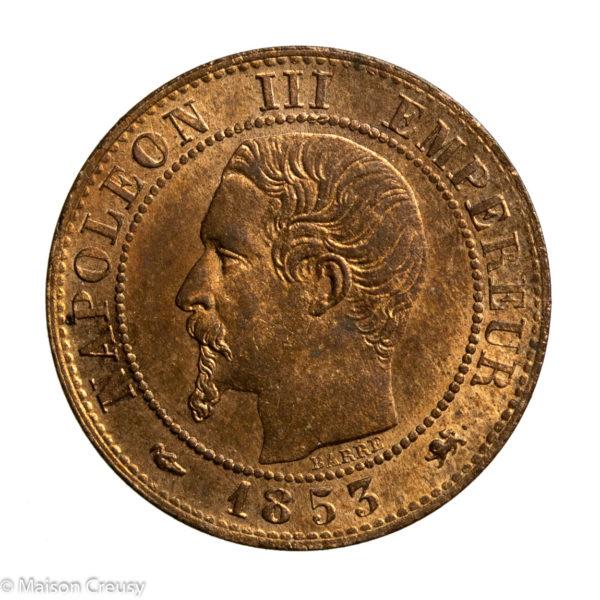 Napoleon III 1 centime 1853 Lyon