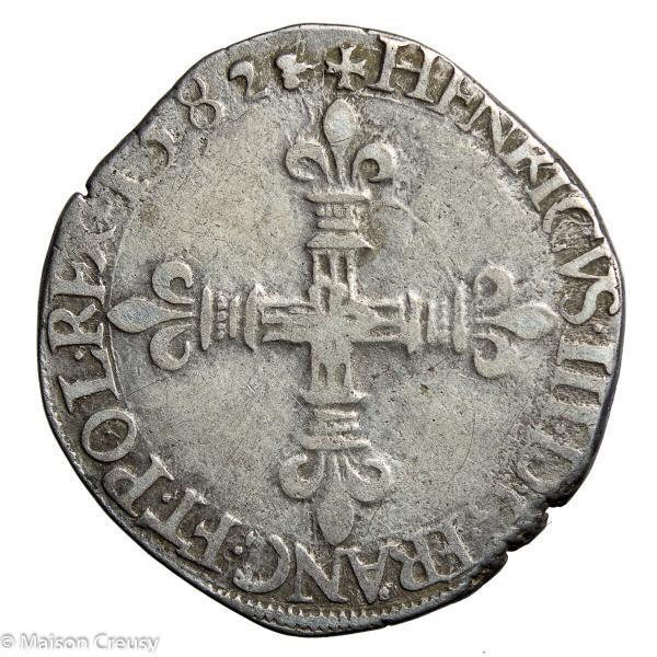 HenriIII-QuartEcu1582H