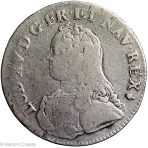 Louis XV AR écu aux Branches d'olivier 1726 Reims