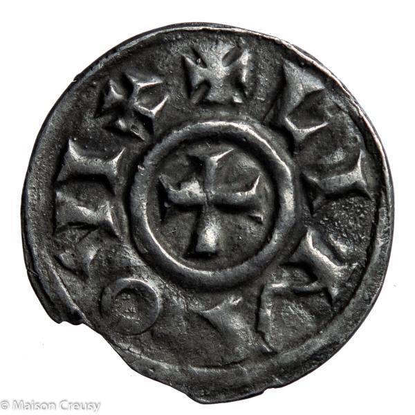CAROLINGIANS Pepin II King of Aquitaine AR Denier Limoges mint