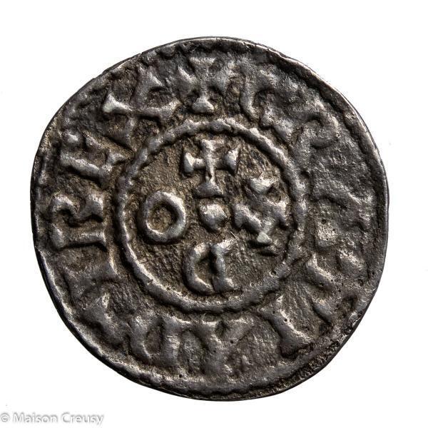 CAROLINGIANS Odo (Eudes) King of West Francia AR Denier Angers mint