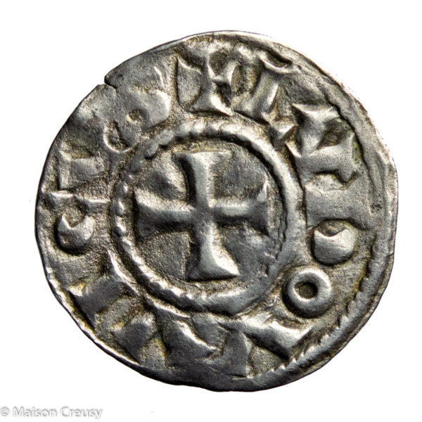 CAROLINGIANS Louis l'Aveugle (the Blind) As King of Lower Burgundy (Provence) AR denier Arles mint