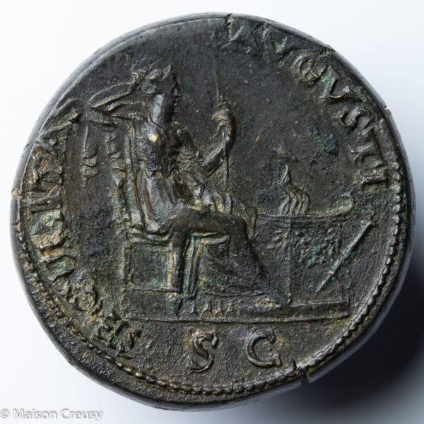 Nero dupondius Lyon mint