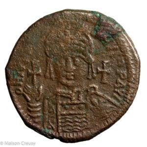 Justinien I follis frappé à Antioche