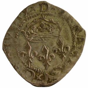 Charles IX double sol Parisis 1575 Montpellier