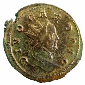 Carus antoninien de billon frappé à Lyon