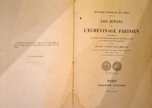 Les Jetons de l'Echevinage Parisien relié toile