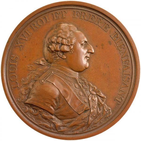 Médaille Louis XVI 1786 Paris Mines d'Allemond
