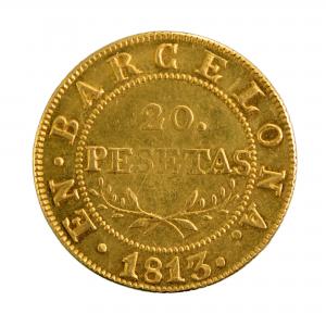 Barcelone Joseph Napoleon 20 pesetas 1813