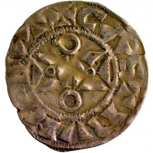 Louis VII denier frappé à Mantes