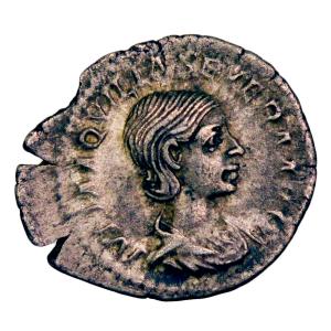 Aquilia Severa AR denarius Rome 221