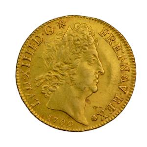 Louis XIV louis aux 8L et aux insignes 1700 Paris
