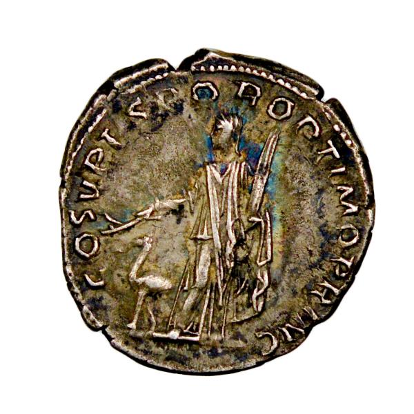 Trajan denier revers Arabie