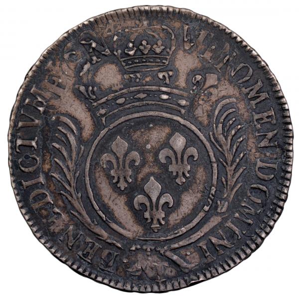 Louis XIV Ecu aux palmes réformation 1694 Nantes