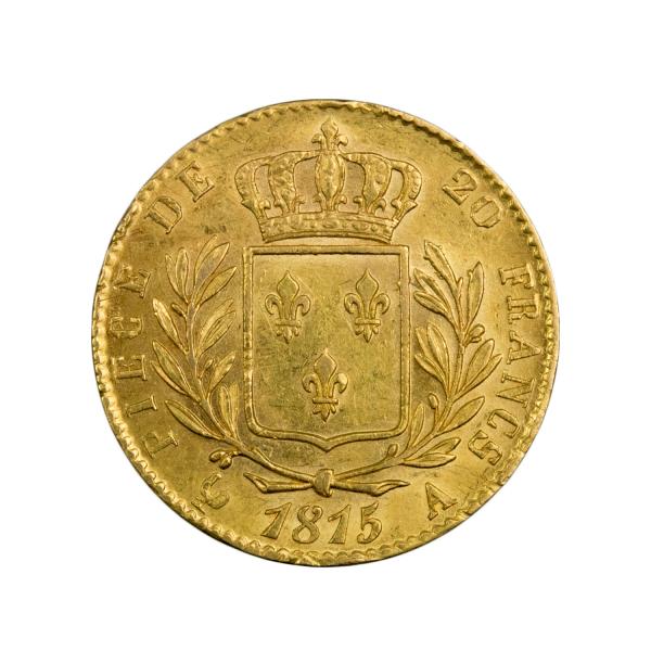 Louis XVIII 20 francs 1815 Paris