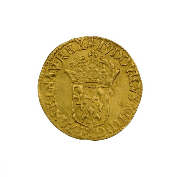 Louis XIII demi écu d'or 1633 Amiens