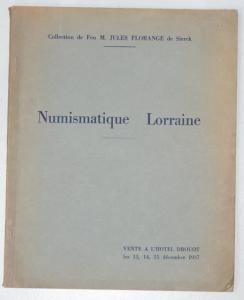 Collection Jules Florange Numismatique de Lorraine