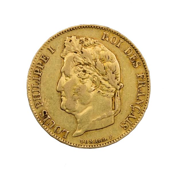 Louis Philippe 20 francs 1843 Lille