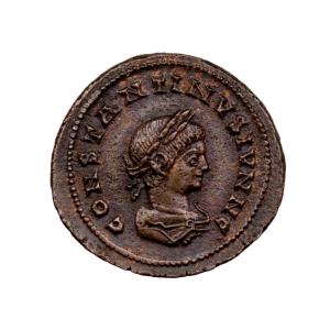 Constantin II petit bronze frappé à Lyon