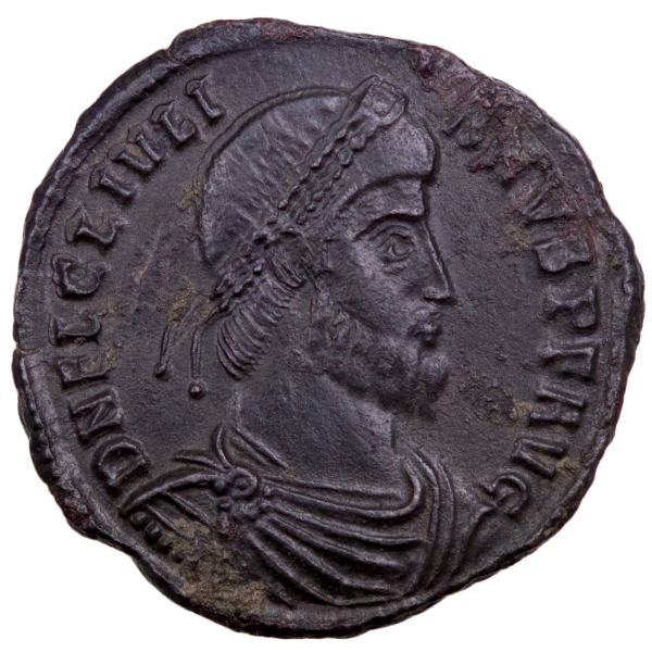 Julian II double maiorina struck in Arles