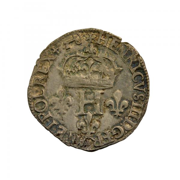 Henri III Double Sol Parisis 1584 Dijon