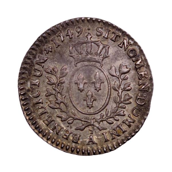 Louis XV 1/20è écu au bandeau 1749 Paris