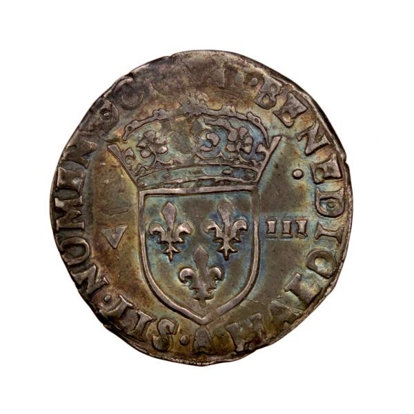 Henri III 1/8 écu 1589 Paris