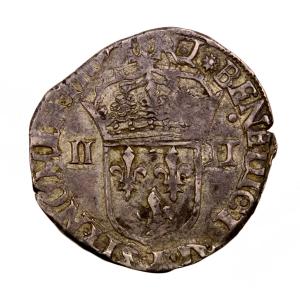 Charles X 1/4 écu 1592 Nantes