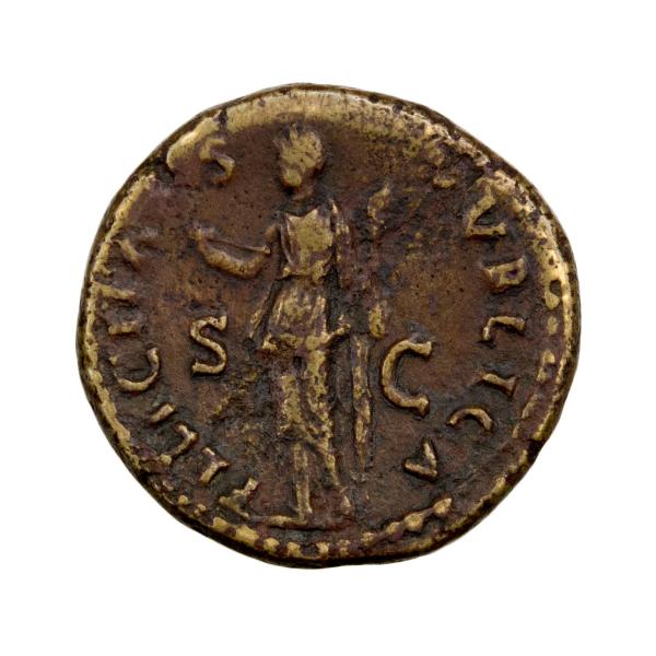 Vespasien dupondius frappé à Rome