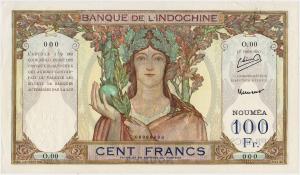 Nouvelle Calédonie 100 francs type 1931 SPECIMEN