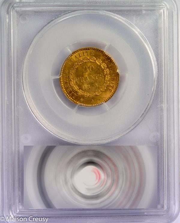 20 francs 1874 PCGS MS63