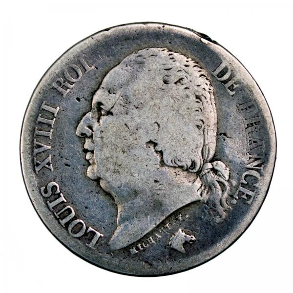 Louis XVIII 2 francs 1822 Lille